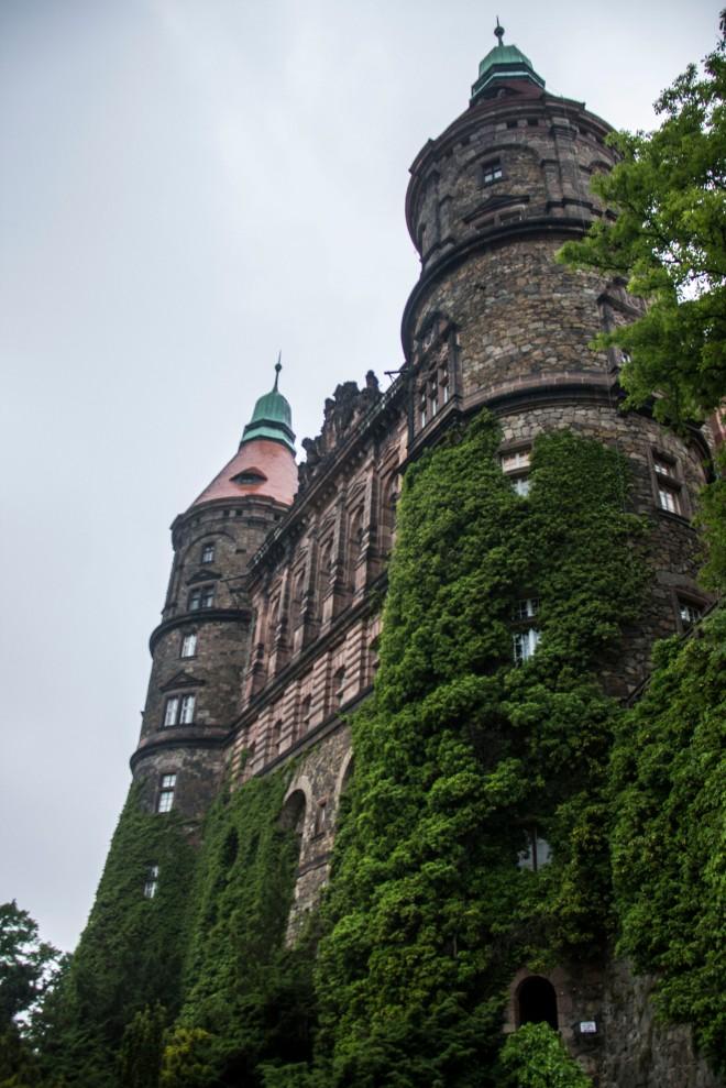 Parte anterior del castillo