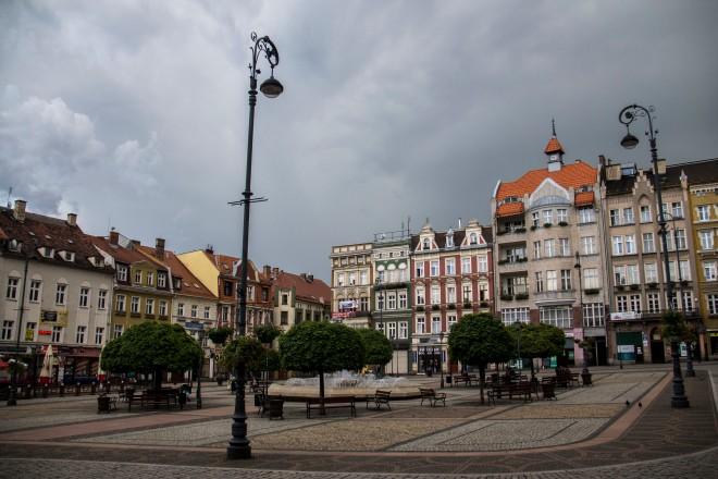 La plaza principal del pueblo